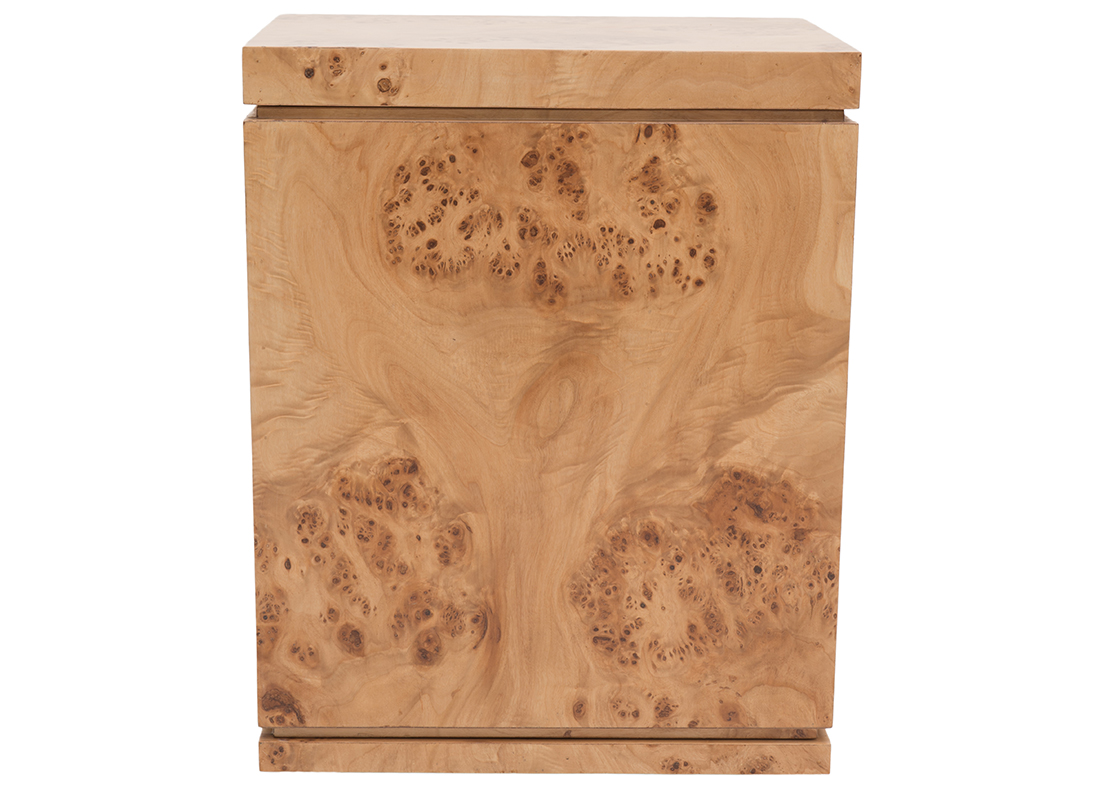 Burl Side Table Left