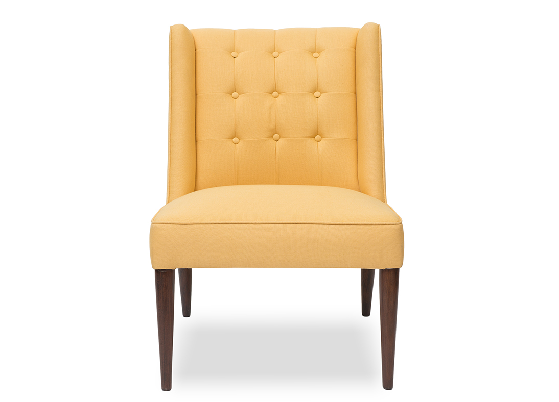 Draper Slipper Chair Gold