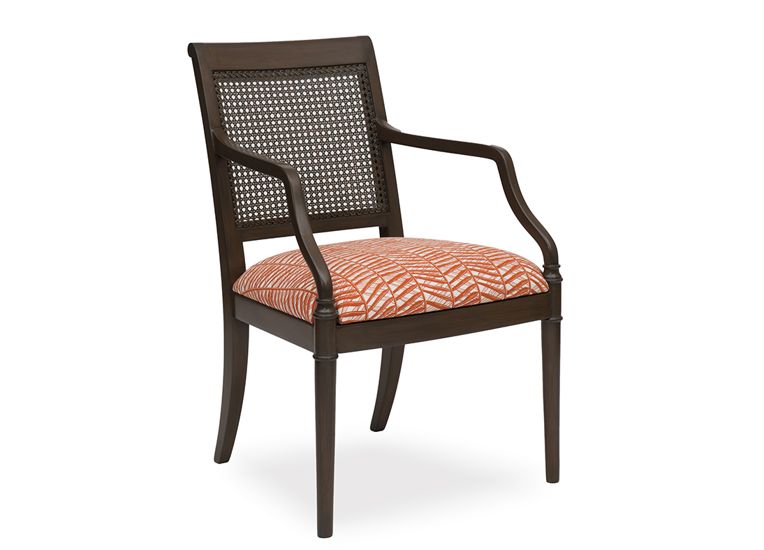 Gymkhana Cane Chair Bamboo Rust Graphite