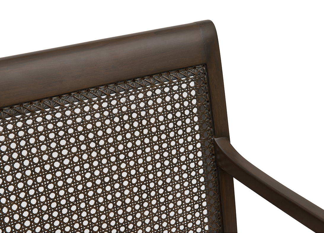 Gymkhana Cane Chair Blue Mist Classic Brown