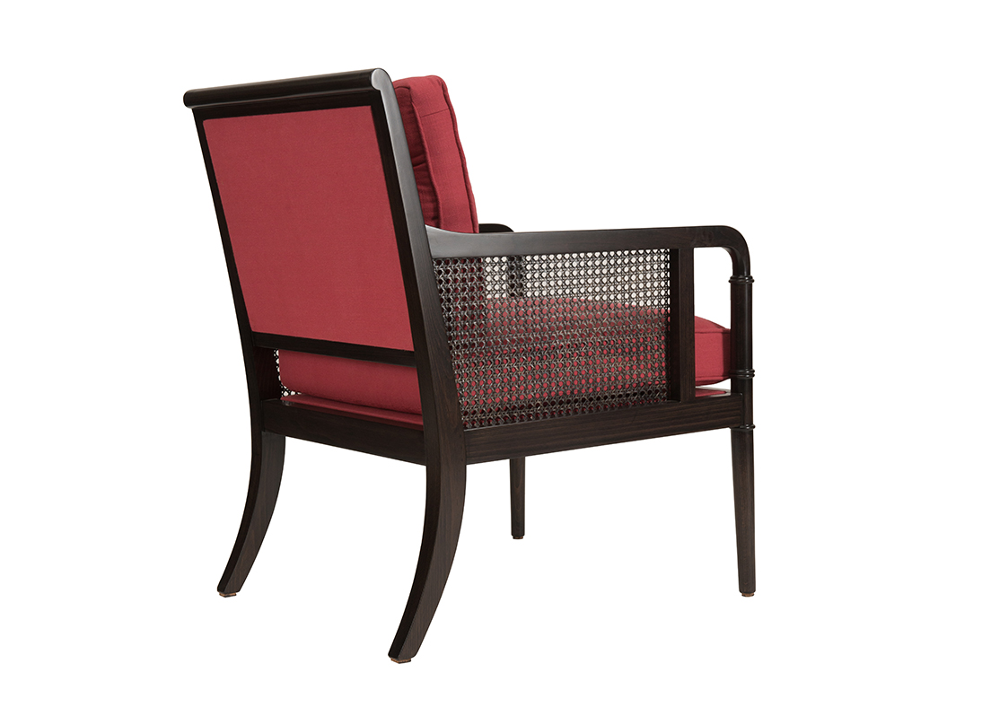 Gymkhana Armchair Weathered Black Crimson