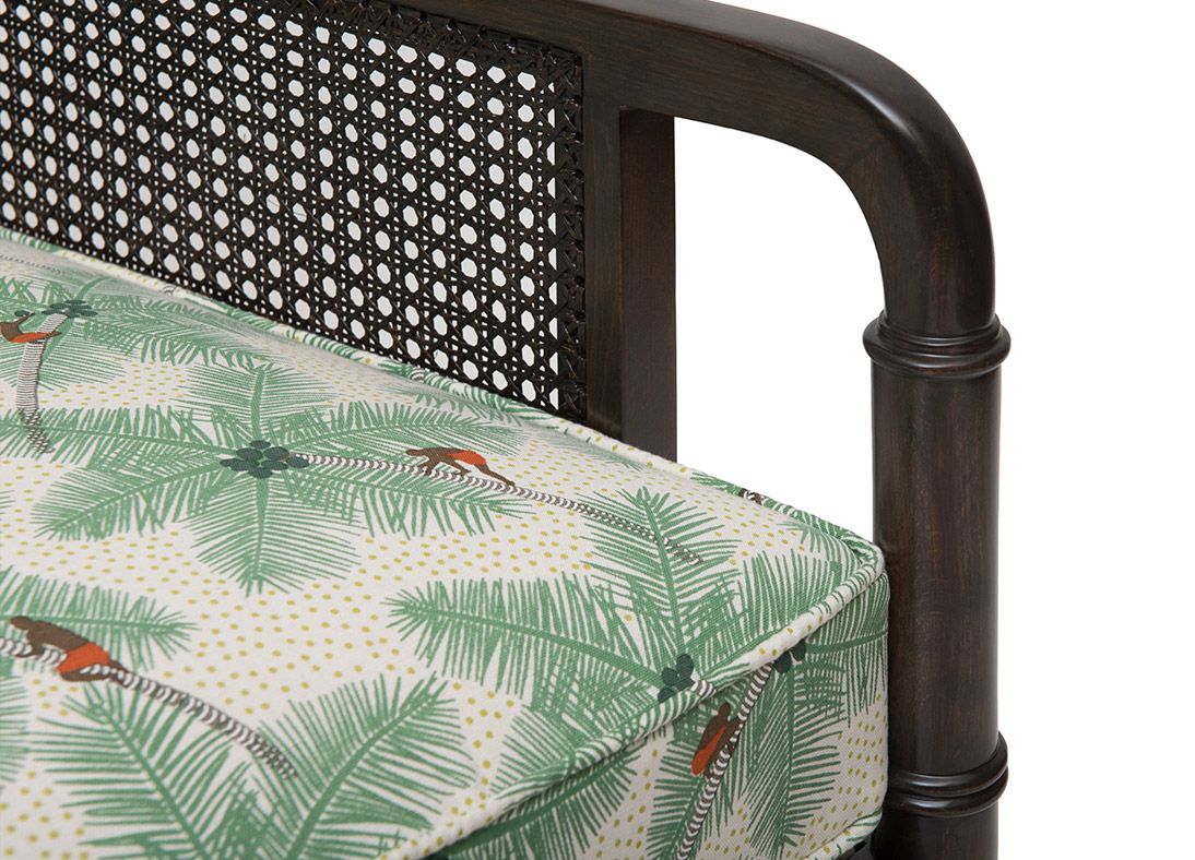 Gymkhana Armchair Weathered Black Coconut Palm Pickers