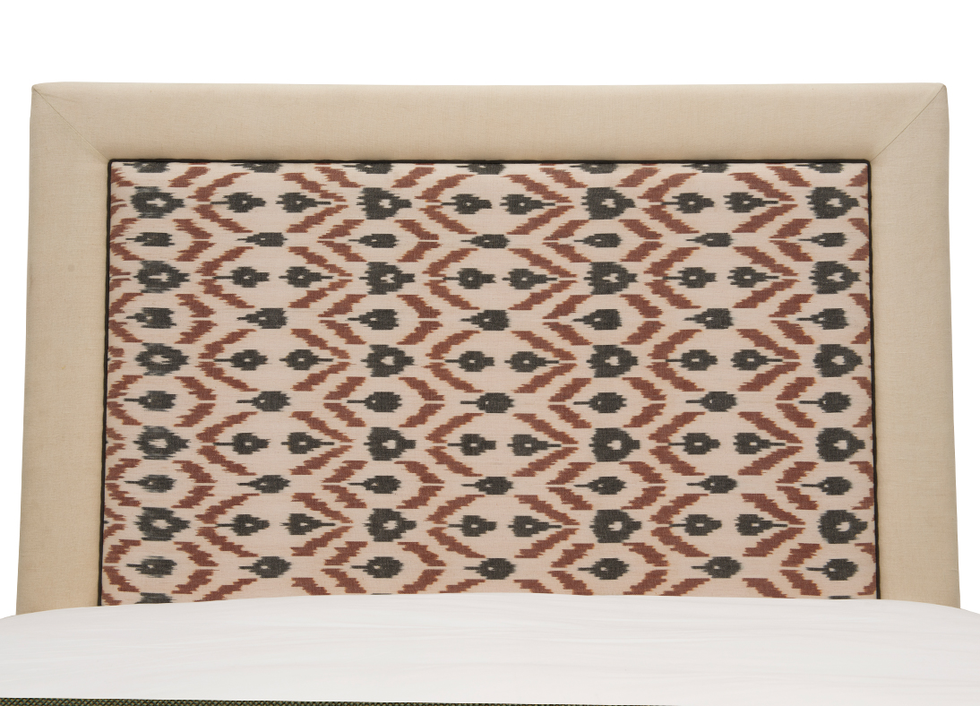 Hamptons Queen Headboard Chittoor Ikat