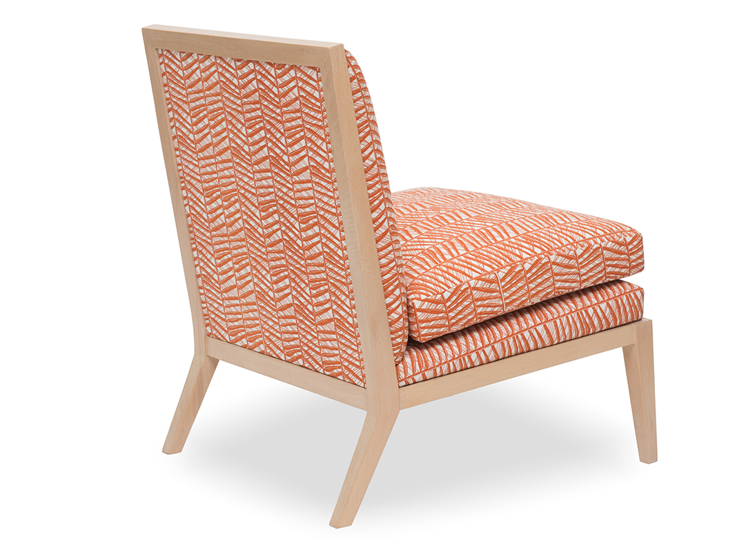 Madeleine Slipper Chair SafoMasi Bamboo Rust