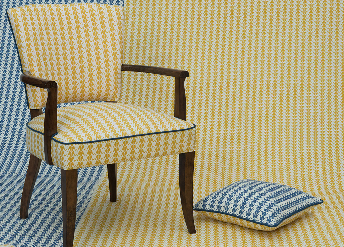 Shimla Accent Chair Gold Crane