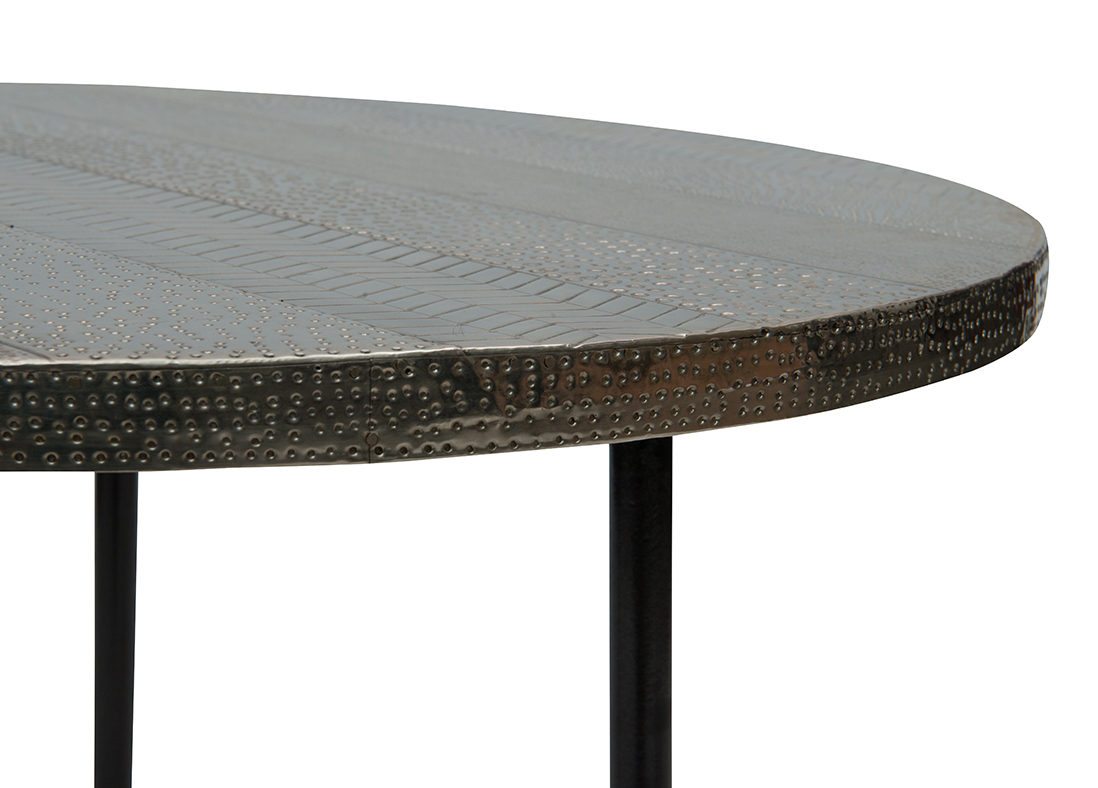 Calico Side Table - Silver
