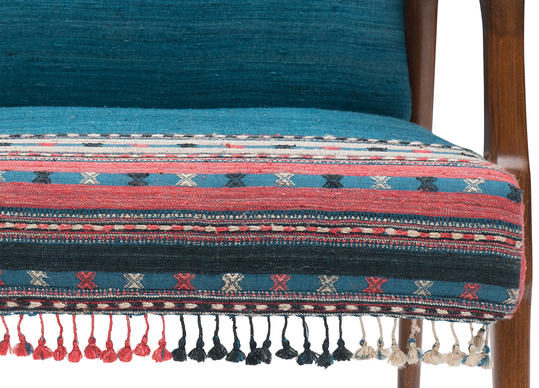 Kutch Chair Ikat Muscat Blue