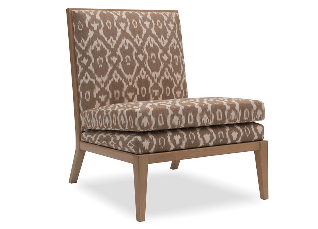 Madeleine Slipper Chair Sandstone Ikat Natural Glaze