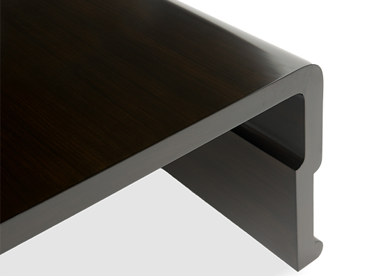 Orient Coffee Table Weathered Black