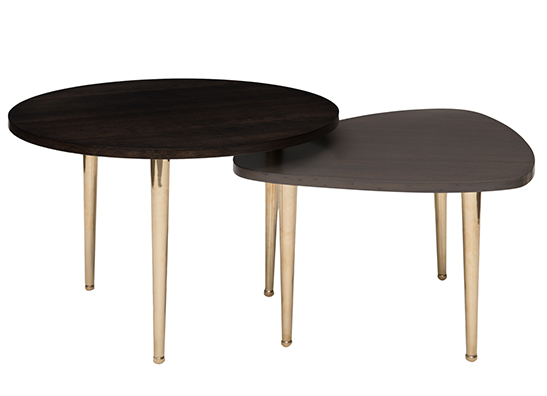 Pebble Table Medium Dark Ash