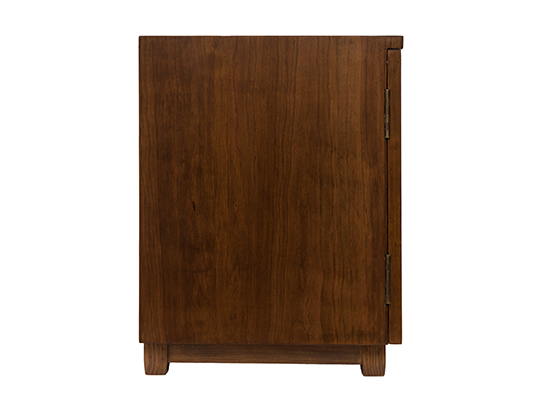 Plantation Bed Side Table Shutter American Cherry