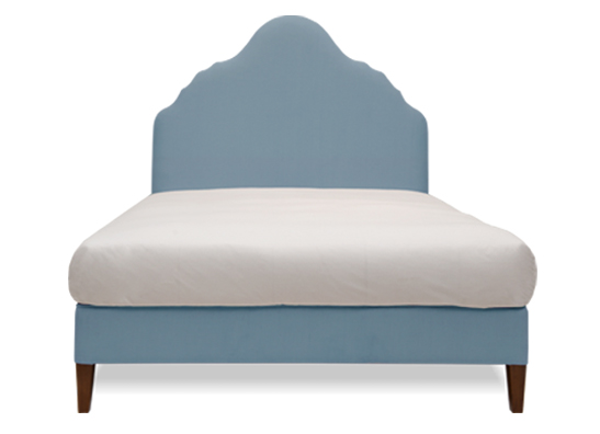 Rampur Queen Bed Blue Mist
