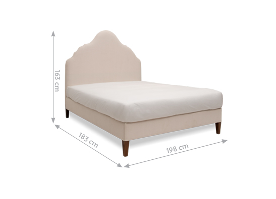 Rampur King Bed Sand