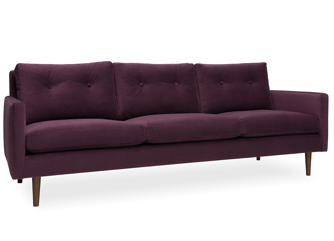 Betty 3-seater Sofa Brinjal