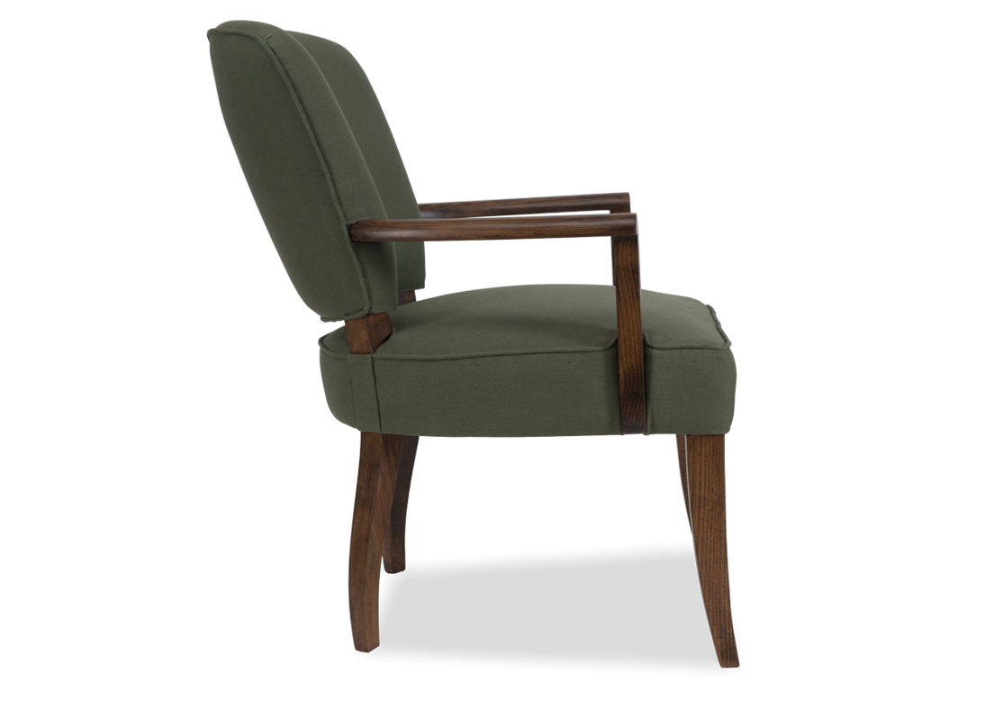 Shimla Accent Chair Spruce  Smoked Brown